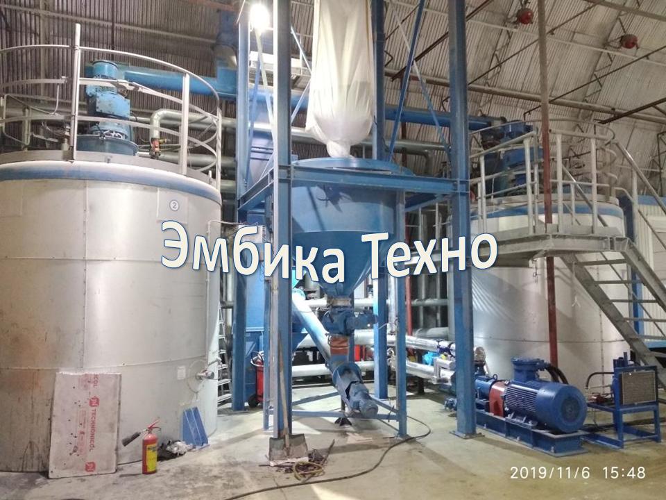 Установка производства полимер битумного вяжущего